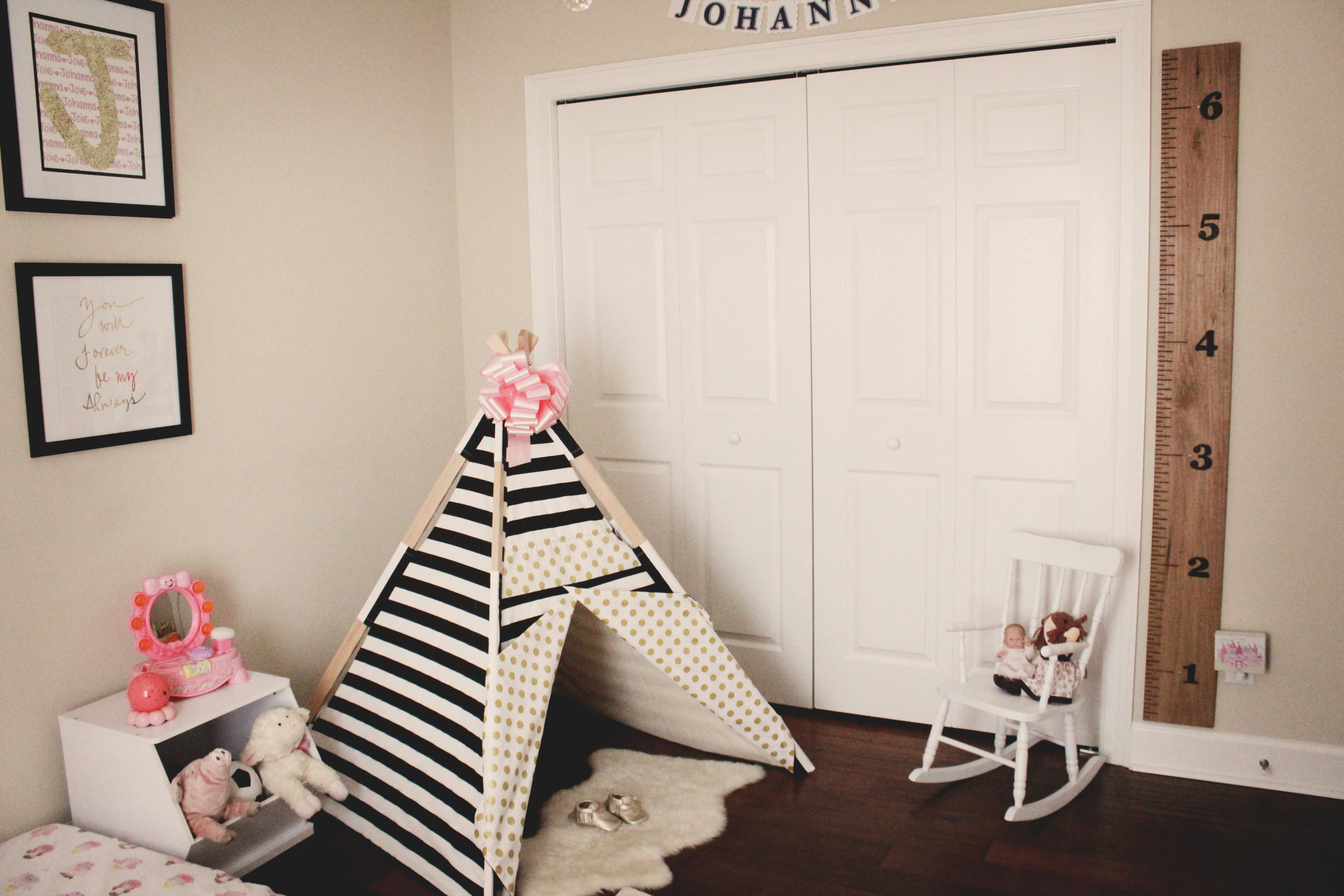 Montessori Style Girl Bedroom
