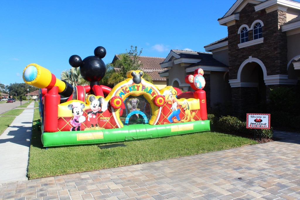 A Mickey Mouse Clubhouse bounce house was a MUST!