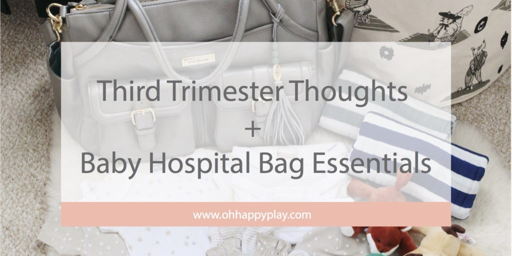 When you hit the third trimester it's time to start thinking a few things! Oh Happy Play, Florida Motherhood blogger is sharing a Baby Hospital Bag with all the essentials!