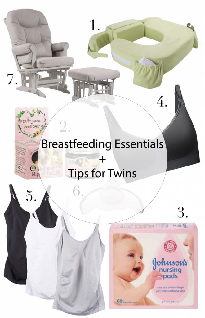 The Ultimate Breastfeeding Essentials List + tips for breastfeeding twins from Florida Motherhood blogger, Oh Happy Play!
