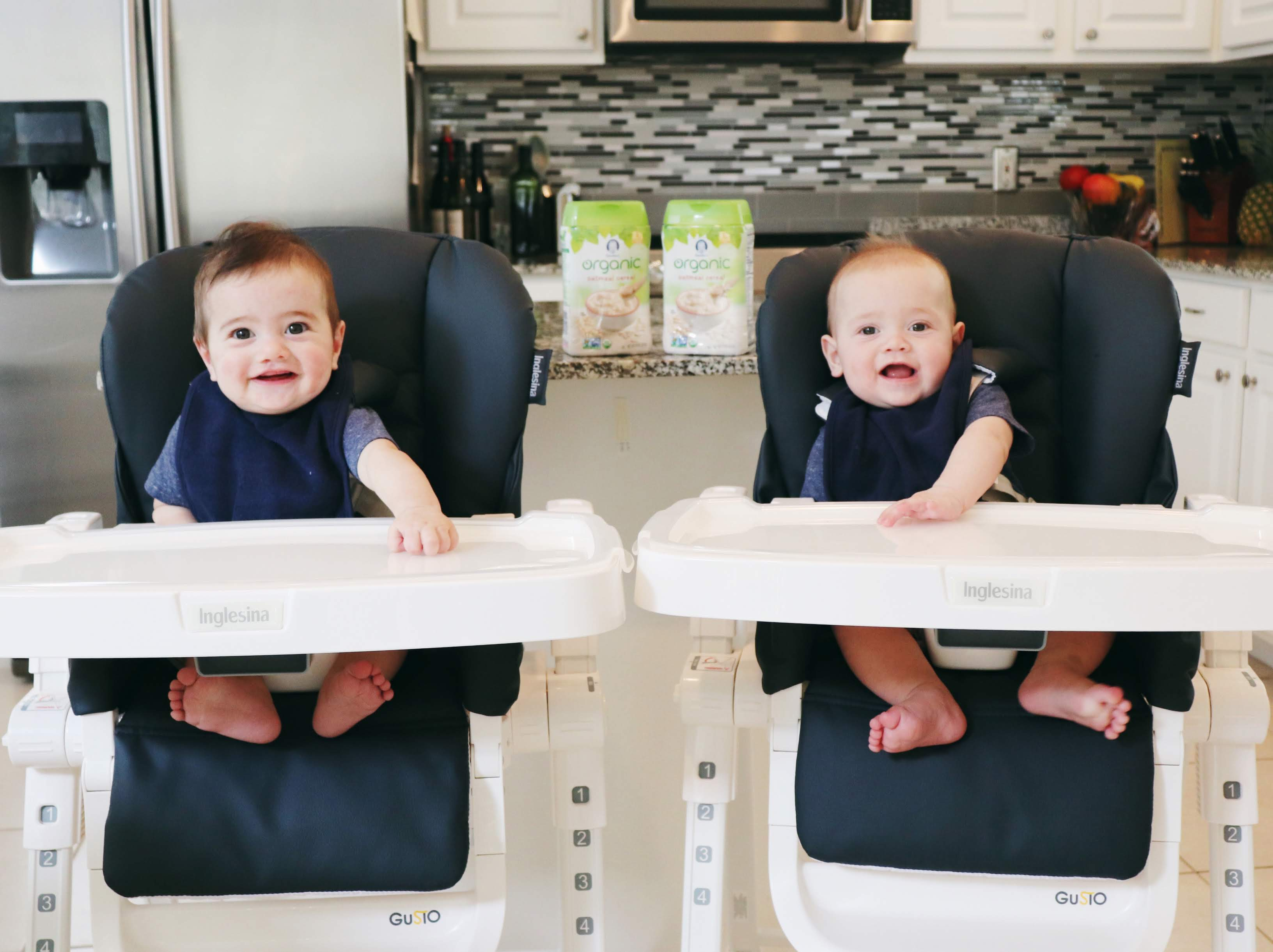twins eating