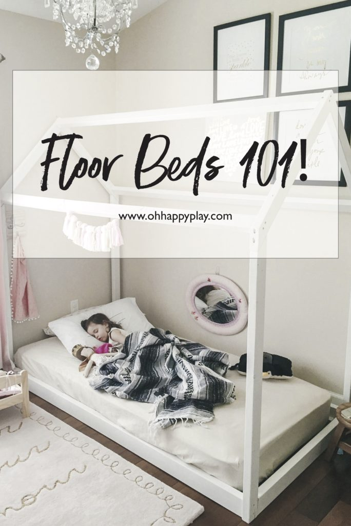 Florida Motherhood blogger, Oh Happy Play is sharing a look at Floor Beds for Toddlers. Check out how to create the best toddler room!
