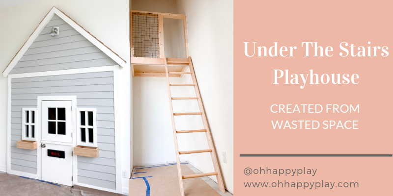 diy under the stairs playhouse, under the stairs playhouse, under stair storage, functional idea for under the stairs, small space storage, DIY, basement, staircase, play areas, reading nooks, playroom, secret room, dutch doors, storage, loft, play house, closet playhouse, playroom inspiration, playroom organization