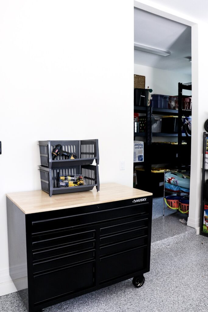 garage storage, tool chest, declutter garage