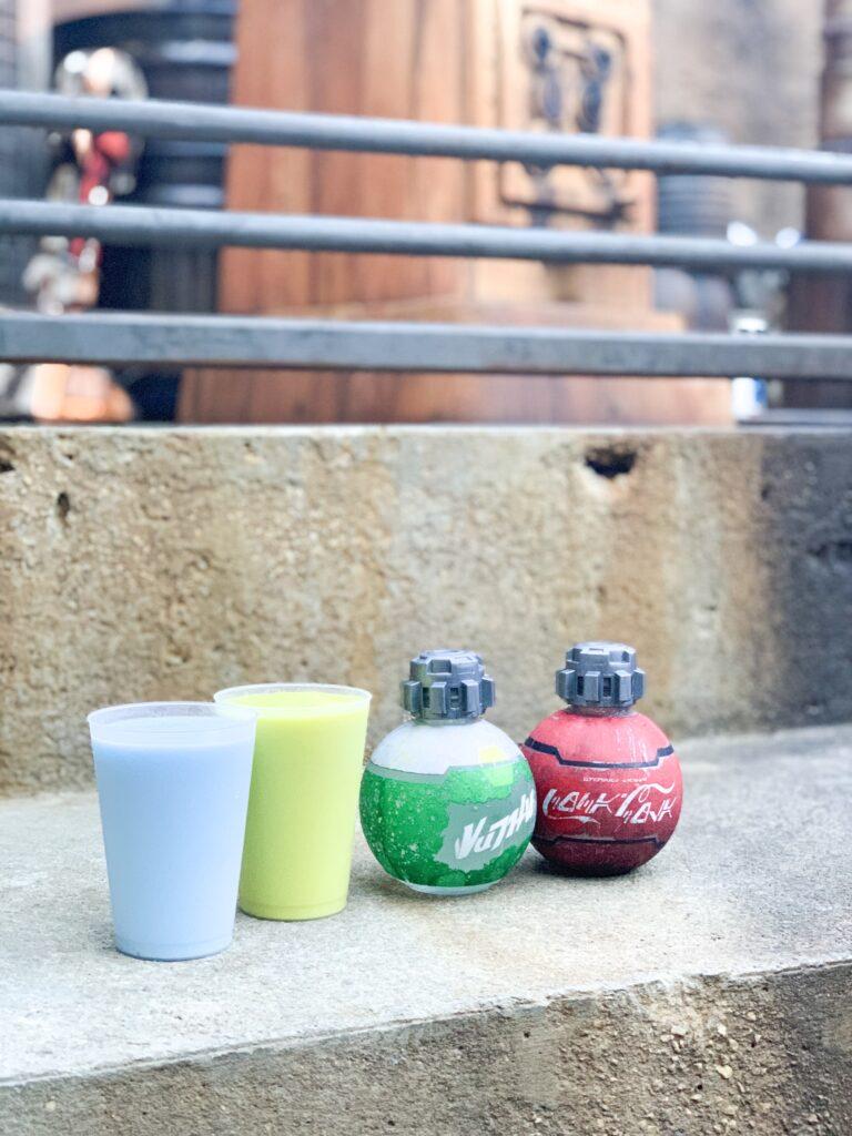 blue milk, green milk, Star Wars galaxy edge