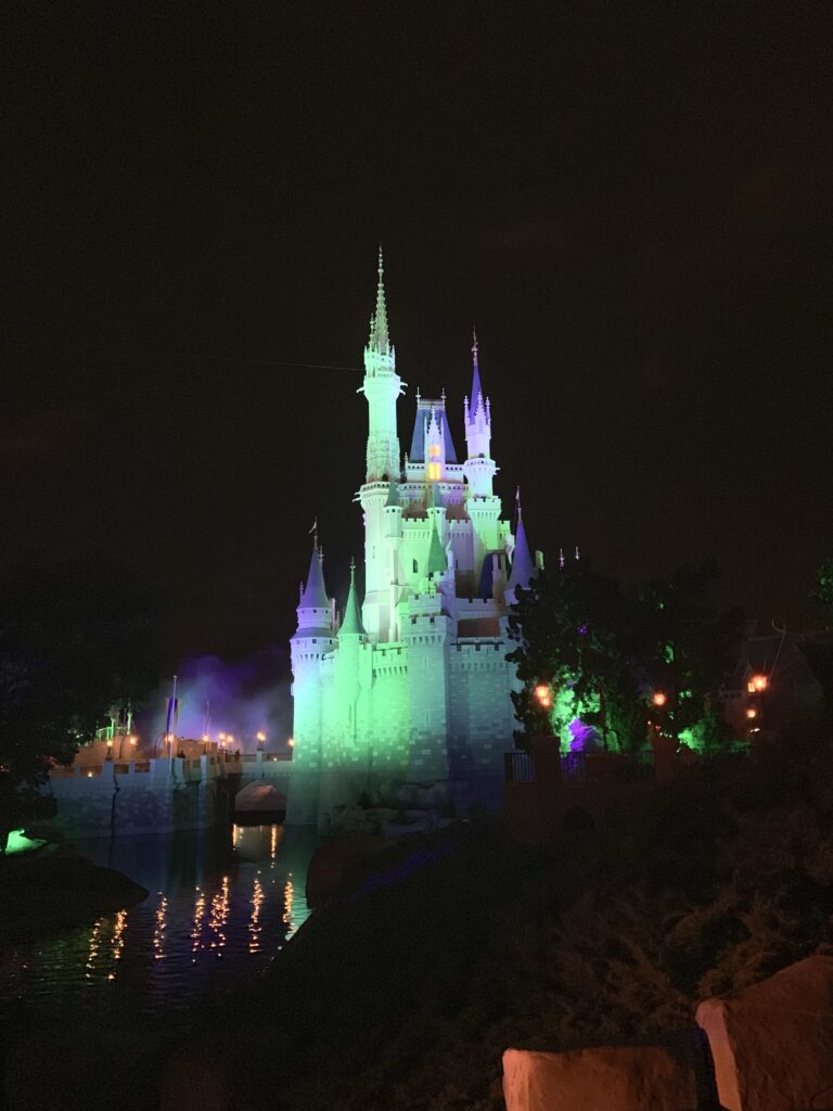 Disney World in the fall, magic kingdom at night, Disney World in October, mickey's not so scary halloween party