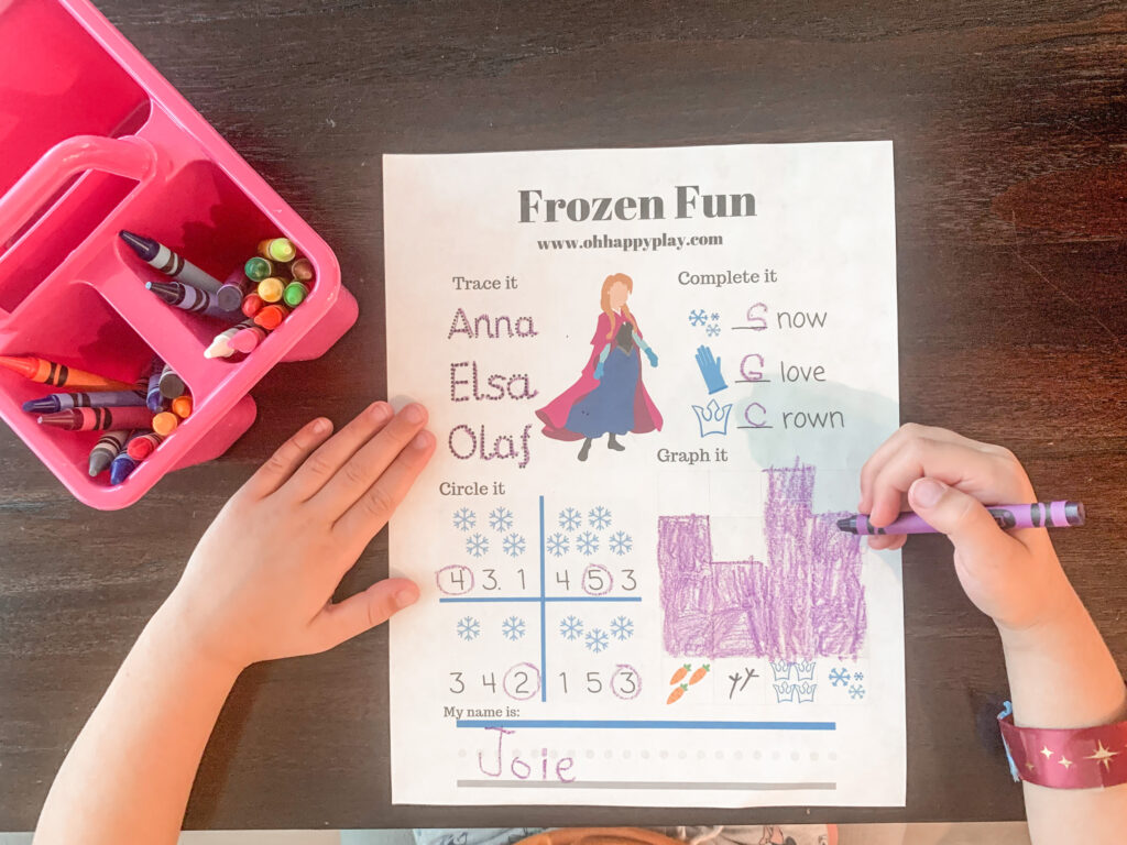 Frozen Worksheets For Kindergarten