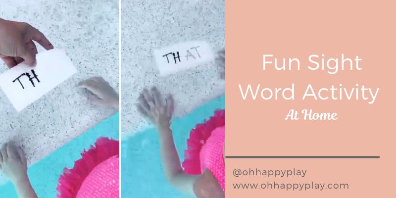 fun sight word activity, sight words for kindergarteners, sensory play, sight word activity at home, homeschool activity or kindergartener