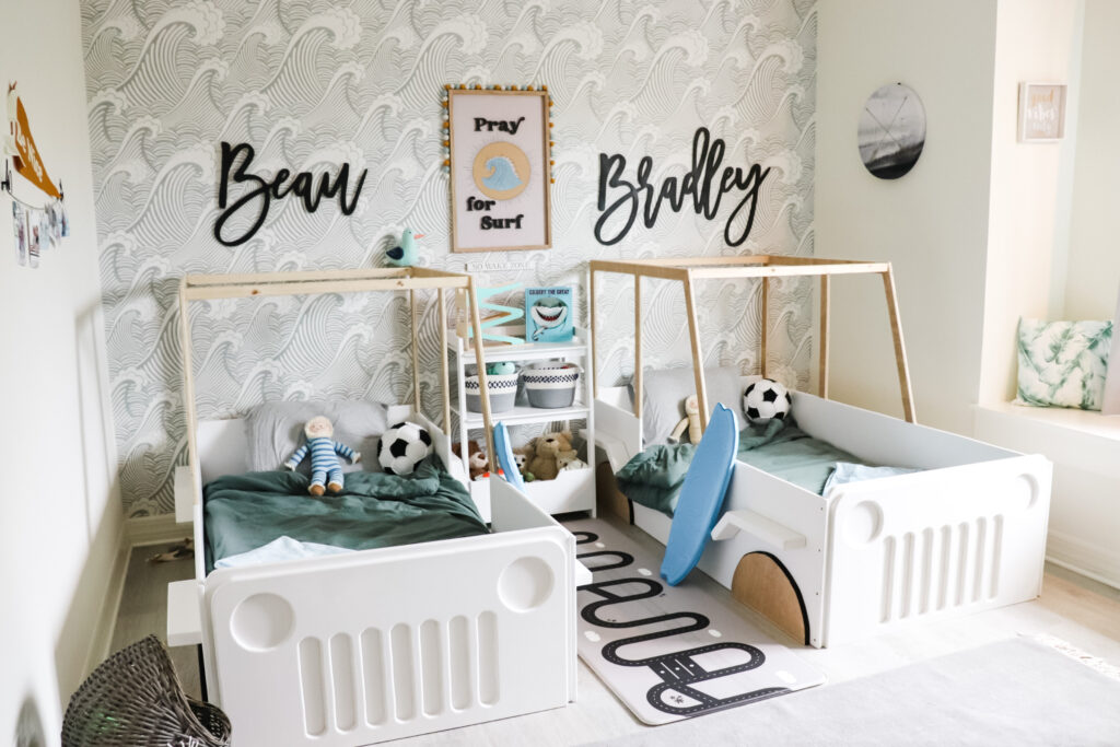 Big Boy Bedroom Makeover Beach Surfer Themed Oh Happy Play