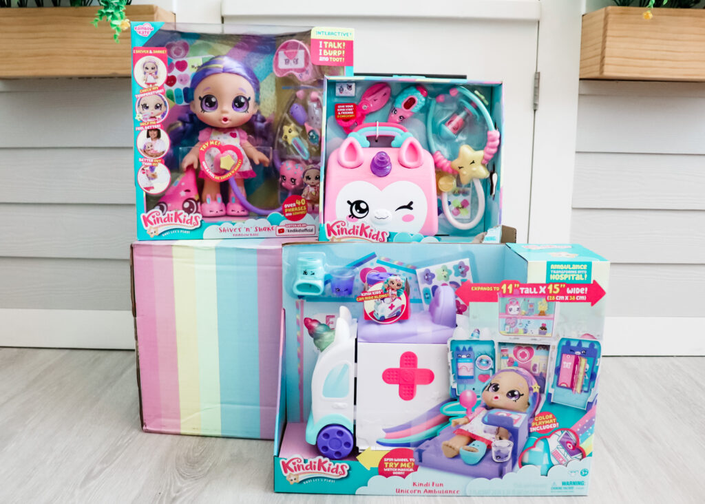 Kindi kids interactive baby doll, rainbow kate, toy fair 2020, interactive baby dolls, play doctor kit for girls, birthday gift for girls, gifts for little girls