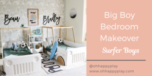 big boy bedroom makeover, beach surfer themed bedroom, twin bedroom