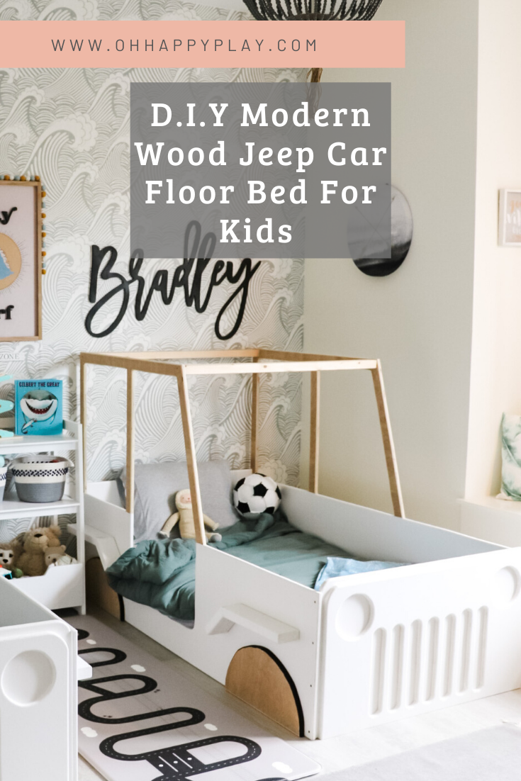 wooden car bed, modern jeep bed, modern floor bed for boys, floor bed for boys, toddler bed for boys, little boy bed, beds for little boys
