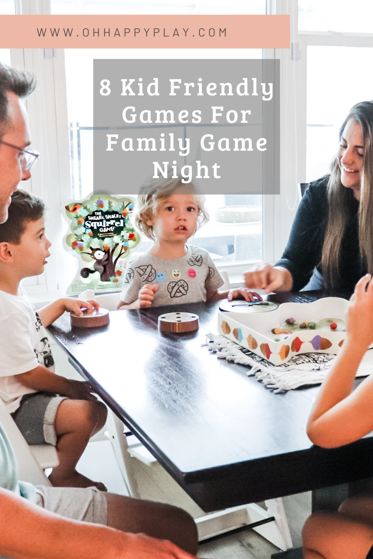 family game night ideas, game night with kids, kid friendly games,