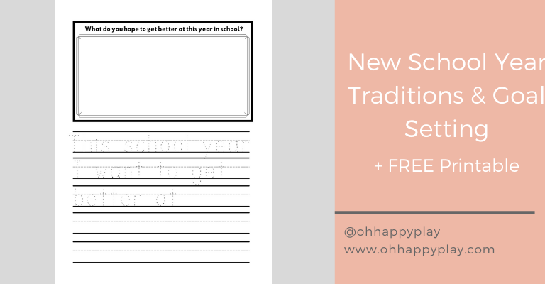 goal setting for kids, set goals with kids, new school year traditions, you're off to great places tradition